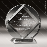 Acrylic Clear Circle Diamond Trophy Award Sales Trophy Awards