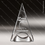 Acrylic Metal Accented Triangle Pyramid Trophy Award Sales Trophy Awards
