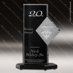 Acrylic Black Accented Diamond Trophy Award Sales Trophy Awards