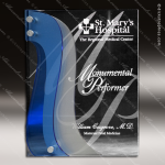 Acrylic Blue Accented Three Layer Rivers Trophy Award Sales Trophy Awards