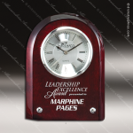 Engraved Rosewood Desk Clock Silver Accented Promotional Clock Award Sales Trophy Awards