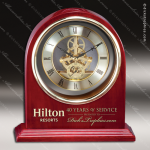 Engraved Rosewood Desk Clock Gold Accented Skeleton Clock Award Sales Trophy Awards