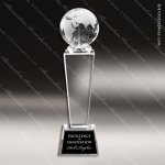 Crystal  Globe Trophy Award Sales Trophy Awards