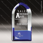 Crystal Blue Accented Cathedral Trophy Award Sales Trophy Awards
