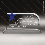 Crystal Blue Accented Shooting Star Trophy Award Sales Trophy Awards