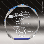 Acrylic Blue Accented Octagon Award Sales Trophy Awards