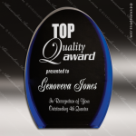 Acrylic Blue Accented Luminary Oval Award Sales Trophy Awards