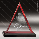 Acrylic Red Accented Triangle Impress Award Sales Trophy Awards