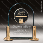 Acrylic Gold Accented Medallion Award Sales Trophy Awards