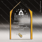 Acrylic Gold Accented Steeple Silhouette Award Sales Trophy Awards