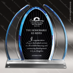 Acrylic Blue Accented Dynasty Collection Award Sales Trophy Awards