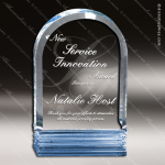 Acrylic Blue Accented Arch Triple Cut Trophy Award Sales Trophy Awards