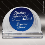 Acrylic Blue Accented Cobalt Round Cascade Trophy Award Sales Trophy Awards