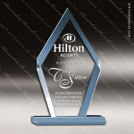Acrylic Blue Accented Arrowhead Acrylic Award Sales Trophy Awards