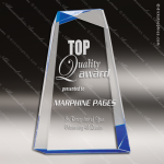 Acrylic Blue Accented Chisel Award Sales Trophy Awards