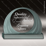 Acrylic  Jade Accented Round Cascade Trophy Award Sales Trophy Awards
