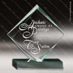 Acrylic  Jade Accented Diamond Trophy Award Sales Trophy Awards