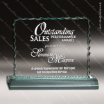 Acrylic  Jade Accented Ice Edged Trophy Award Sales Trophy Awards