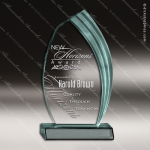 Acrylic  Jade Accented Cascade Award Sales Trophy Awards