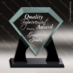 Acrylic  Jade Accented Diamond Award Sales Trophy Awards