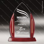 Acrylic  Rosewood Accented Peak Award Sales Trophy Awards