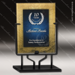 Acrylic Blue Accented Acrylic Art Plaque Standing Trophy Award Sales Trophy Awards