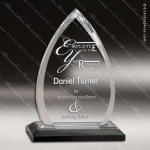 Acrylic Black Accented Oval Arrowhead Impress Award Sales Trophy Awards