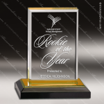 Acrylic Gold Accented Beveled Impress Award Sales Trophy Awards