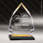 Acrylic Gold Accented Diamond Impress Award Sales Trophy Awards