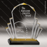 Acrylic Gold Accented Faceted Impress Award Sales Trophy Awards