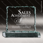 Acrylic  Jade Accented Crushed Ice Award Sales Trophy Awards