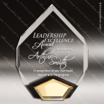 Acrylic Gold Accented Marquis Diamond Award Sales Trophy Awards