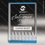 Acrylic Blue Accented Rectangle Award Sales Trophy Awards
