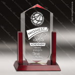 Acrylic  Rosewood Accented Royal Crown Award Sales Trophy Awards