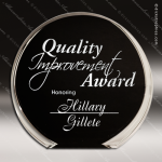 Acrylic Black Accented Luminary Circle Award Sales Trophy Awards