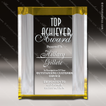 Acrylic Gold Accented Channel Mirror Award Sales Trophy Awards