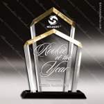 Acrylic Gold Accented Chairman Award Sales Trophy Awards