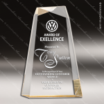 Acrylic Gold Accented Crisscross Award Sales Trophy Awards