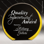 Acrylic Gold Accented Luminary Circle Award Sales Trophy Awards