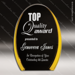 Acrylic Gold Accented Luminary Oval Award Sales Trophy Awards