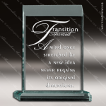 Acrylic  Jade Accented Rectangle Apex Series Award Sales Trophy Awards