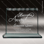 Acrylic  Jade Accented Tidal Wave Award Sales Trophy Awards
