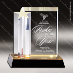 Acrylic Gold Accented Star Burst Single Star Tower Award Sales Trophy Awards
