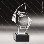 Acrylic Black Accented Nouveau Series Award Sales Trophy Awards