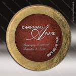 Acrylic Red Accented Acrylic Art Plaque Round Trophy Award Sales Trophy Awards