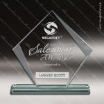 Pachello Diamond Glass Jade Accented Trophy Award Sales Trophy Awards