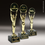 Traditional Gold Champion Achievement Trophy Award Sales Trophy Awards