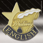 Lapel Pin - English Academic Metal Chenille Letter Insignia Scholastic Lapel Chenille Pins