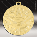 Medallion Superstar Series Scholastic Lamp of Knowledge Medal School Scholastic Medals