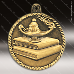 Medallion High Relief Series Scholastic Lamp of Knowledge Medal School Scholastic Medals